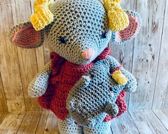 Crochet Mouse, Crochet Doll, Amigurumi Mouse, Amigurumi Cat, Crochet Pusheen, Crochet Doll, Handmade Doll, Baby Gift, Gifts for New Mom