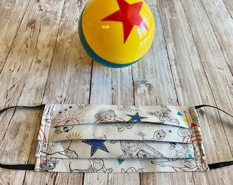 Disney Toy Story Child Mask, Toy Story Novelty Mask, Woody Mask, Buzz Lightyear Mask, Pixar Mask, Disney Mask, Disney Fabric Mask, Toy Story