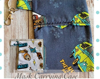 Scooby Bag, Scooby Mask Case, Scooby Carrying Case, Scooby-Doo Mask Bag, Mask Holder, Backpack Charm, Scooby Charm, Scooby Bag Charm