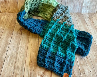 Unisex Scarf, Fall Scarf, Handmade Scarf, Womens Scarves, Gift for Mom, Gift for Dad, Gift for Wife, Gift for Husband, Winter Scarf, Holiday