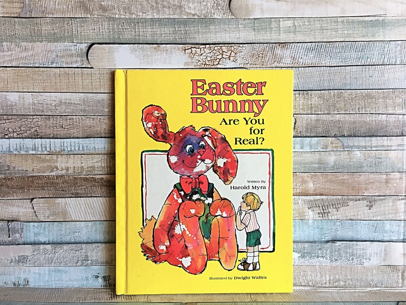 Vintage Easter Bunny Book Are You Real Harold Myra Easter image 0