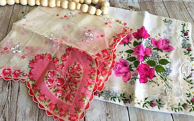 Vintage Ladies Handkerchief Vintage Clothing Womens Hankies image 0