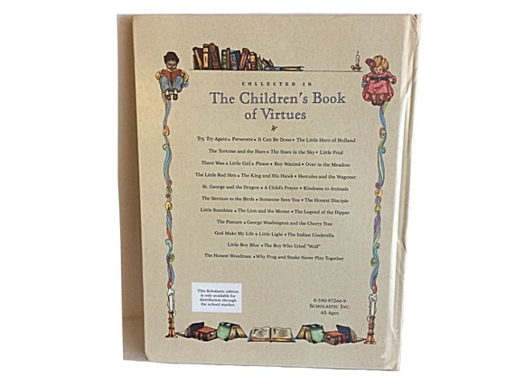 Livre des vertus pour enfants, Livre vintage des enfants, Livre vintage, Livre moral des enfants, Livre de religion d'enfant, Livre de cadeau
