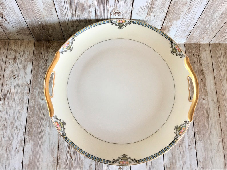 Antique Handled Cake Plate Noritake Cortez Serving Plate image 0