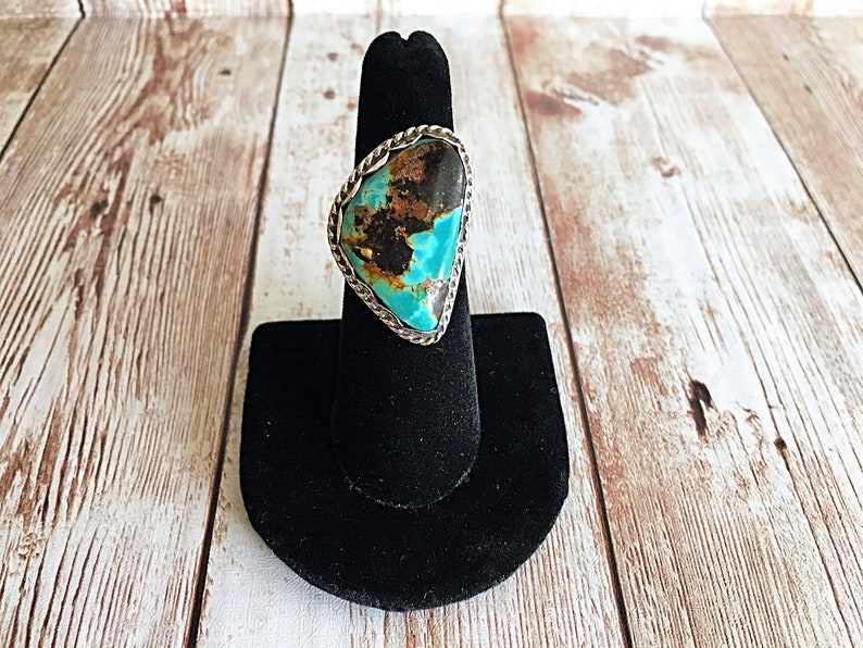 Vintage Turquoise Ring Vintage Silver Ring Turquoise and image 0