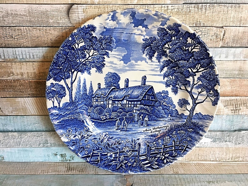 Royal Ironstone Blue Country Plate Ironstone Country Essex image 0