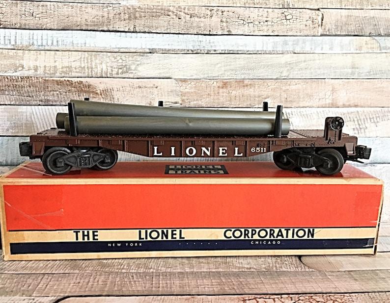 Vintage Lionel Pipe Car Lionel No 6511 Vintage Lionel Train image 0