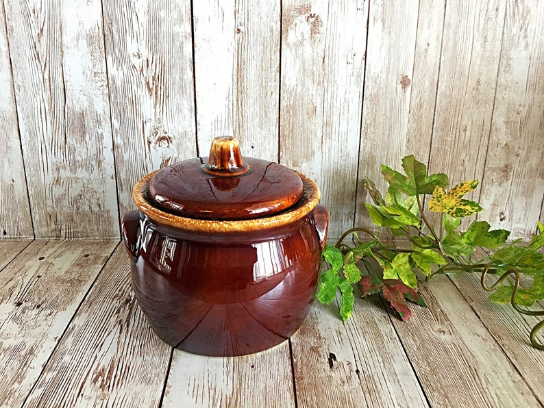 Hull Jar Dripware Brown Dripware Hull Sugar Jar Brown image 0