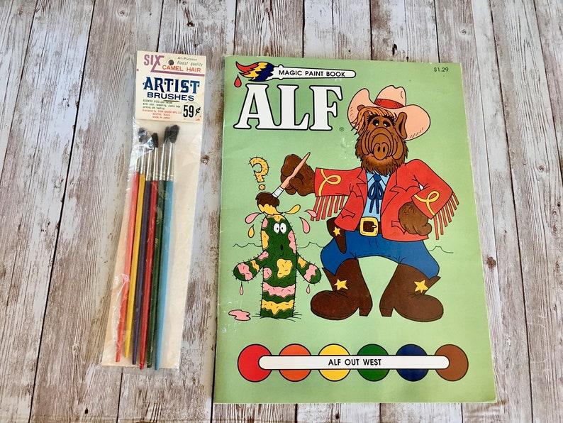 Vintage Alf Watercolor Book Alf Poster Vintage Alf Alf image 0