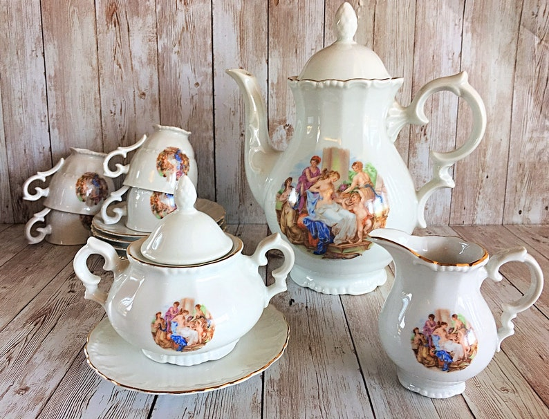 Vintage West Germany Tea Set Vintage Germany Teapot Bavaria image 0