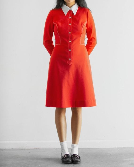 60s Maraschino Cherry Dress / Shirt Dress
