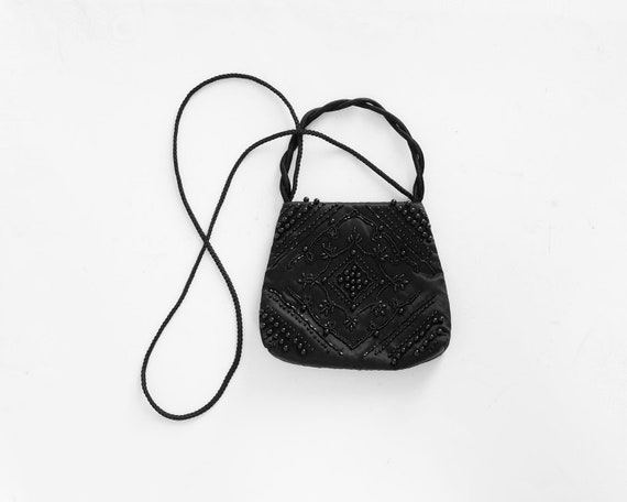 90s Mini Satin Beaded Purse