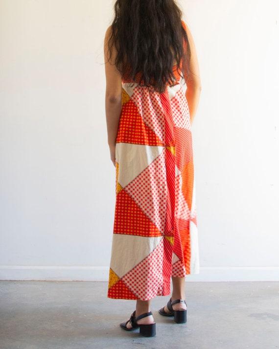 60s Patchwork Maxi Dress / Vintage Floral - image 4
