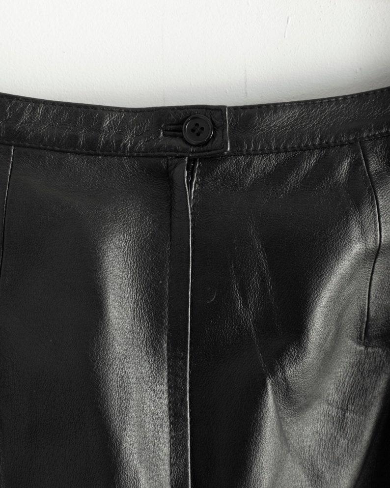90s Minimalist Leather Maxi Skirt  28 Waist