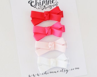 Gift Idea, Baby Hair Bows, Baby Hair Clips Set, Small Hair Bows, Baby Bow Clip, Toddler Hair Clips, Ribbon Hair Bow Clips, Infant Hair Clips
