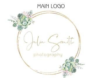 Succulent Logo, Logo Design, Photography Logo and Watermark, Custom Logo, Cactus Logo, Botanical Logo, Floral Logo, Boutique Business Logo