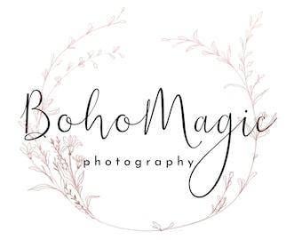 Premade Logo Design, Photography Logo Watermark, Floral Logo, Elegant Logo, Custom Logo, Signature Logo, Boutique Logo, Feminine Logo
