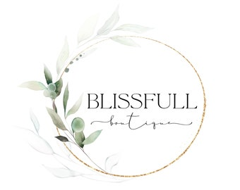 Boutique Logo Design, Premade Logo Design, Floral Logo, Greenery Logo, Website Logo, Business Logo, Fashion Logo, Elegant Watermark Logo