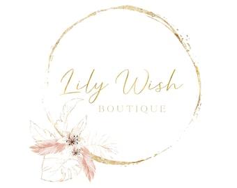 Premade logo design, Watermark Logo, Floral Logo, Boutique Logo, Watercolor Logo, Website Logo, Business Logo, Feminine Logo, Boho Logo