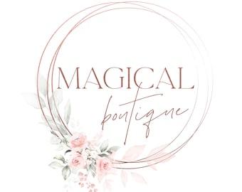 Floral Logo Design Custom for business, Full Branding Package, Photography Logo and Watermark, Blush Beauty Logo Branding Kit