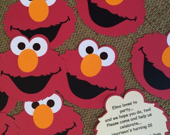 Elmo Birthday Or Baby Shower Invitations Includes Matching Envelopes Sets Of 8