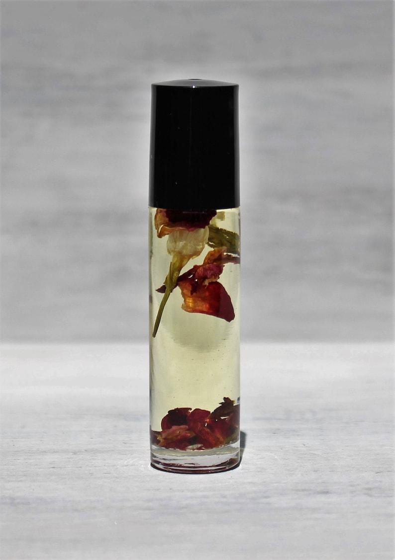 Jasmine Rose Vanilla Natural Perfume Roll On Essential Oils image 0