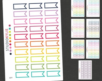 Mini Flag Planner Stickers -  Repositionable Matte Vinyl - Smaller Size Suits all Planners