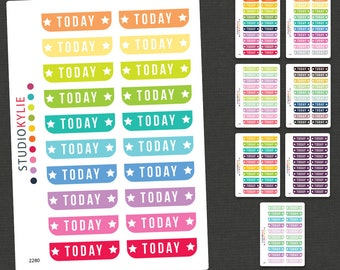 Today Planner Stickers -  Repositionable Matte Vinyl - Suits all Planners