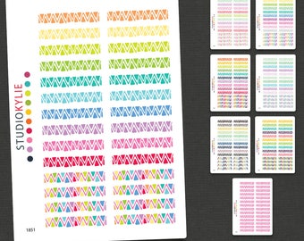 Whimsical Chevron Border Sticker -  To suit Erin Condren Life Planners & others - Repositionable Matte Vinyl
