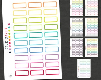 Mini Rectangle Planner Stickers -  Repositionable Matte Vinyl - Smaller Size Suits all Planners