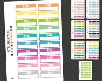 Exam Planner Stickers - Repositionable Matte Vinyl