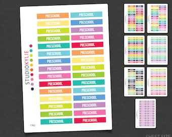 Preschool Planner Stickers - Removable Matte Vinyl