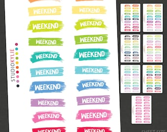 Weekend Stickers - Repositionable Matte Vinyl for all Planners