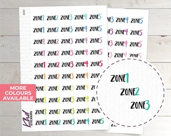 Zone Cleaning Stickers - Planner Stickers - Removable