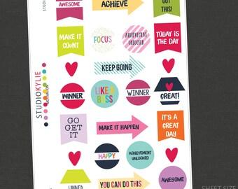 Motivation Planner Stickers