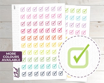 Tick Boxes Planner Stickers - Planner Stickers - Removable