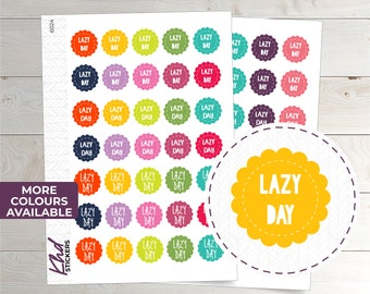 Lazy Day Stickers - Planner Stickers - Removable