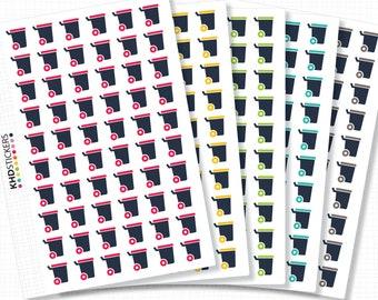 Wheelie Bin Stickers - Planner Stickers - Removable