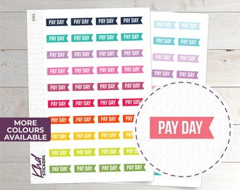 Pay Day Flag Stickers - Planner Stickers - Removable
