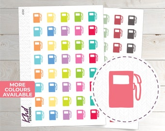 Petrol Icon Stickers - Planner Stickers - Removable