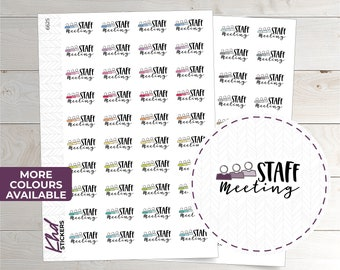 Staff Meeting Stickers - Planner Stickers - Removable