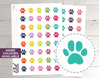 Paw Print Icon Stickers - Planner Stickers - Removable