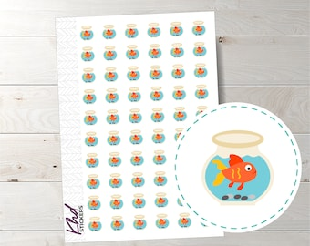 Fish Bowl Stickers - Planner Stickers - Removable