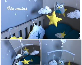 Musical theme OWL or OWL with clouds and stars