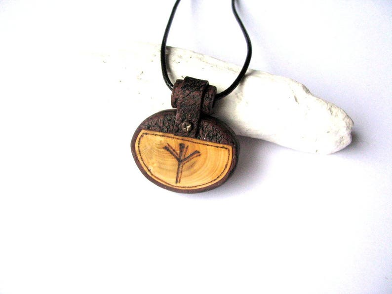 Men necklace Pagan necklace Celtic rune men necklace Mens jewelry  Protection necklace gift Futhark jewelry Woodwork jewelry Norse necklace