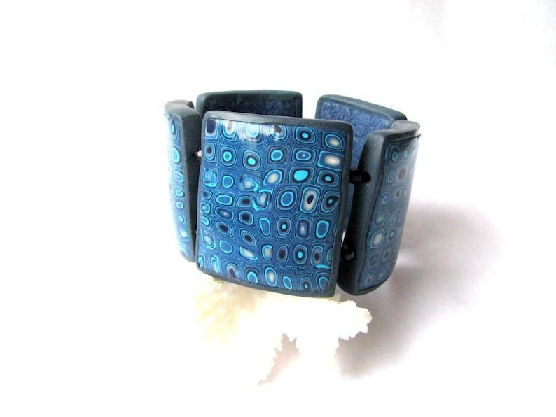 Big blue bracelet Blue beaded bracelet Beaded bracelet gift Blue Boho bracelet Festival jewelry Stacking bangle Bohemian bracelet gift