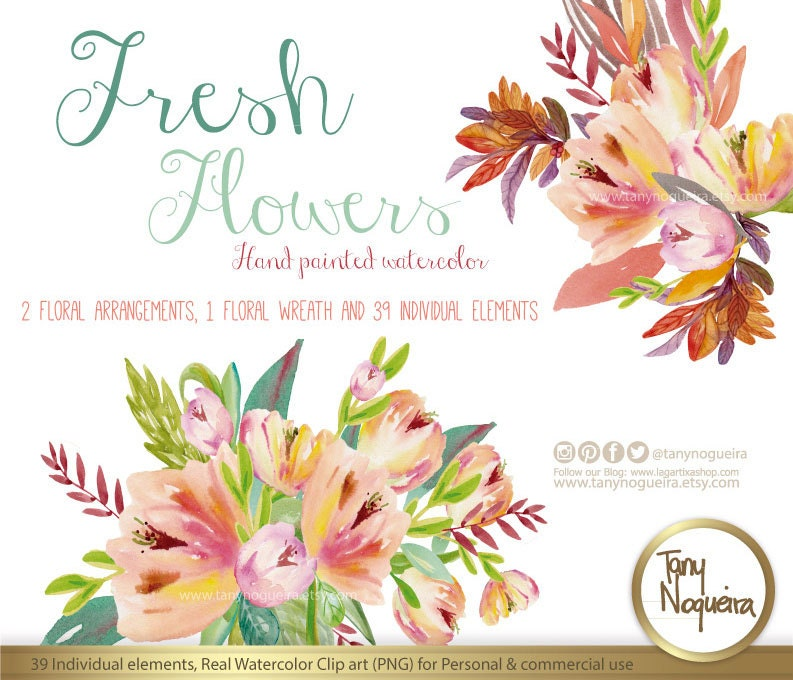 Fresh Flowers Wedding Flowers Invitations Cards Quotes Etsy
