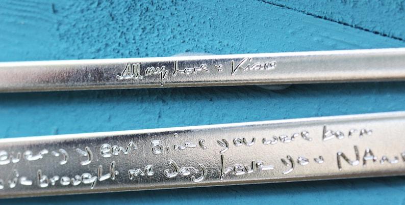Custom Handwriting Bracelet Memorial Jewelry Personalised Engraved Gift Actual Handwriting Cuff Secret Handwriting Jewelry