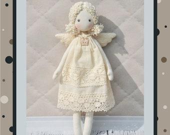 "Christmas angel Pattern 13"",  PDF Sewing Tutorial,Soft Doll Pattern"