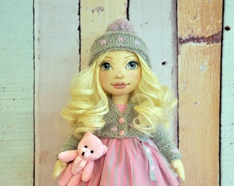 ooak doll Textile doll decorative doll collector dolls art doll